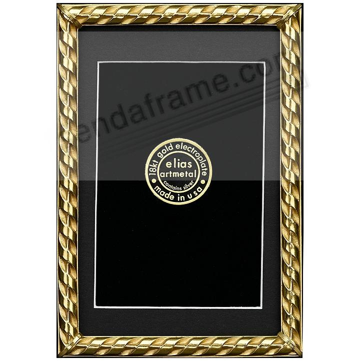 RIBBON 18kt Gold Over Fine Pewter 4x6/3½x5½ frame by Elias Artmetal®