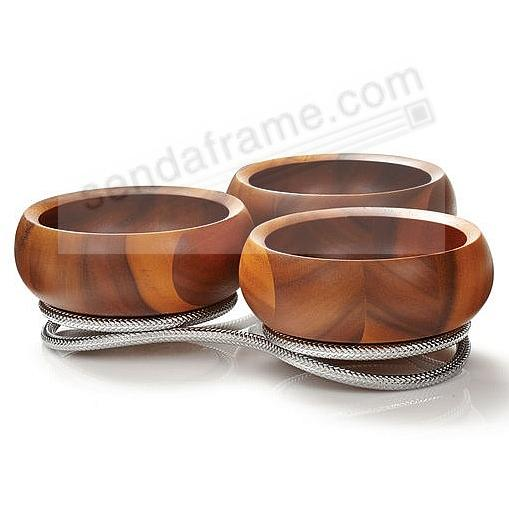 The Original BRAID CONDIMENT SERVER crafted by Nambe®
