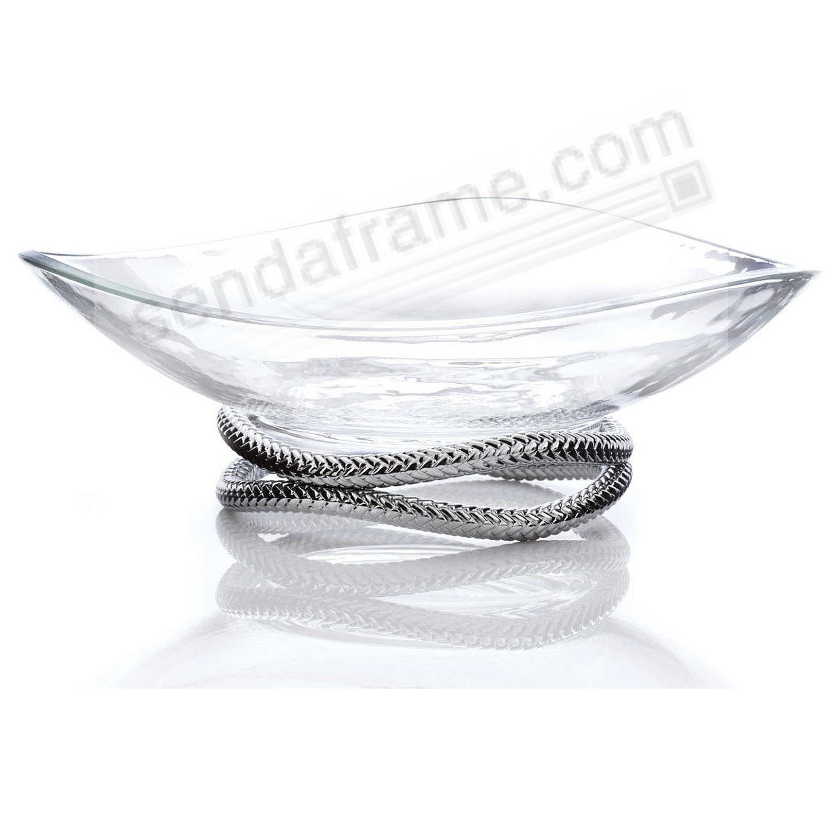 The Original BRAID CENTERPIECE BOWL crafted by Nambe®