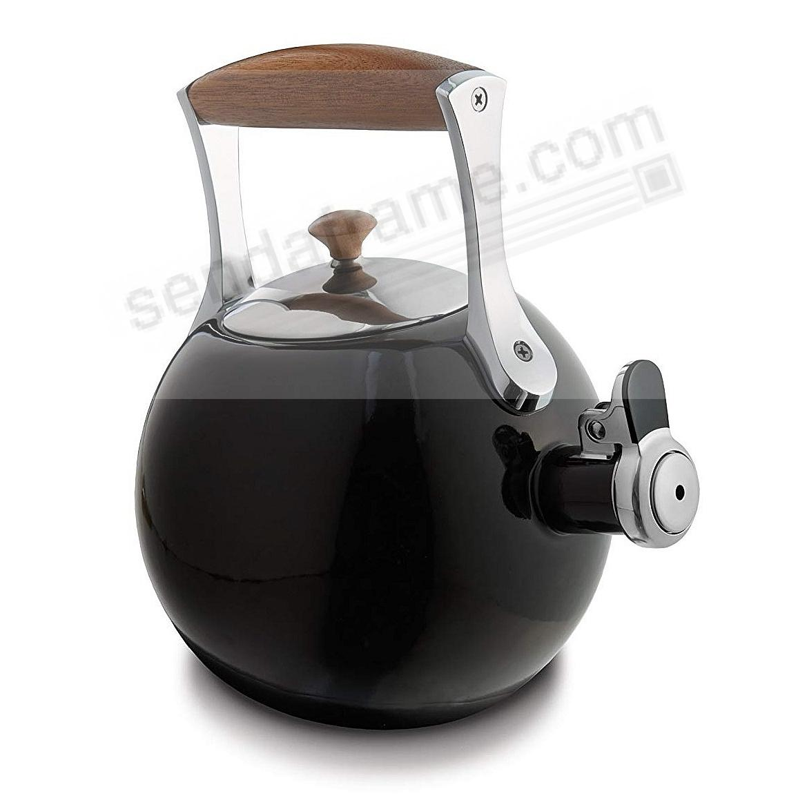 The Original MERIDIAN WHISTLING TEA KETTLE - BLACK - by Nambe®