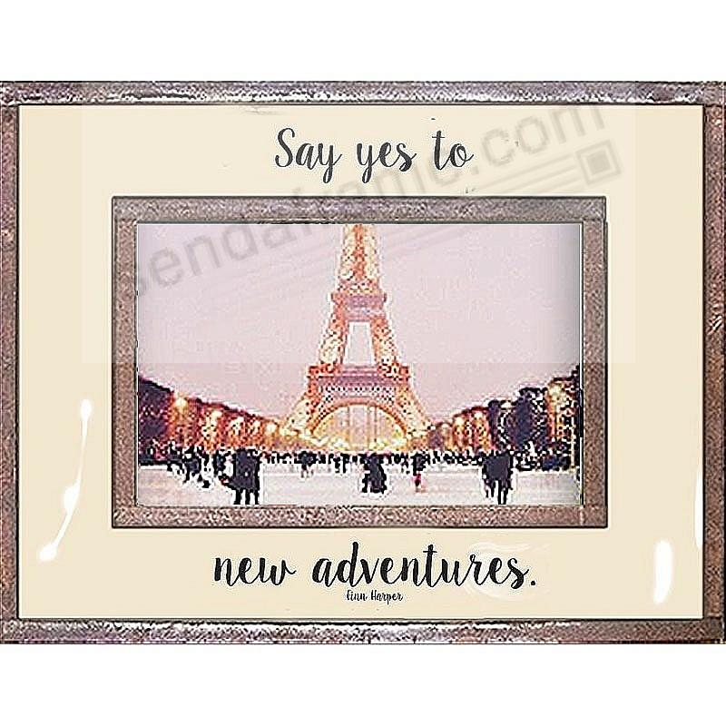 SAY YES TO NEW ADVENTURES Copper + Clear Glass by Ben's Garden®