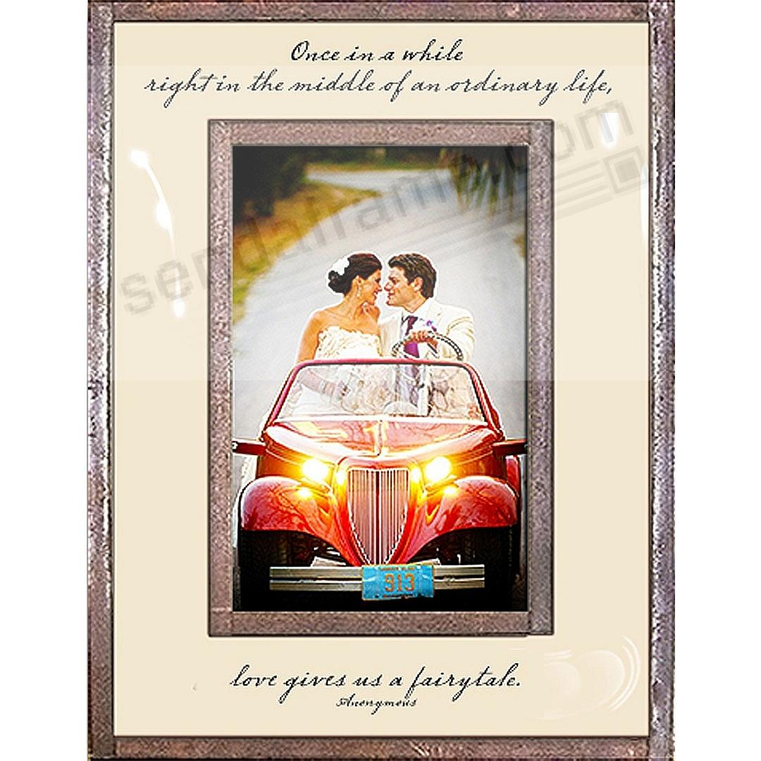 ONCE IN A WHILE ... LOVE GIVES US A FAIRYTALE Copper + Clear Glass by Ben's Garden®