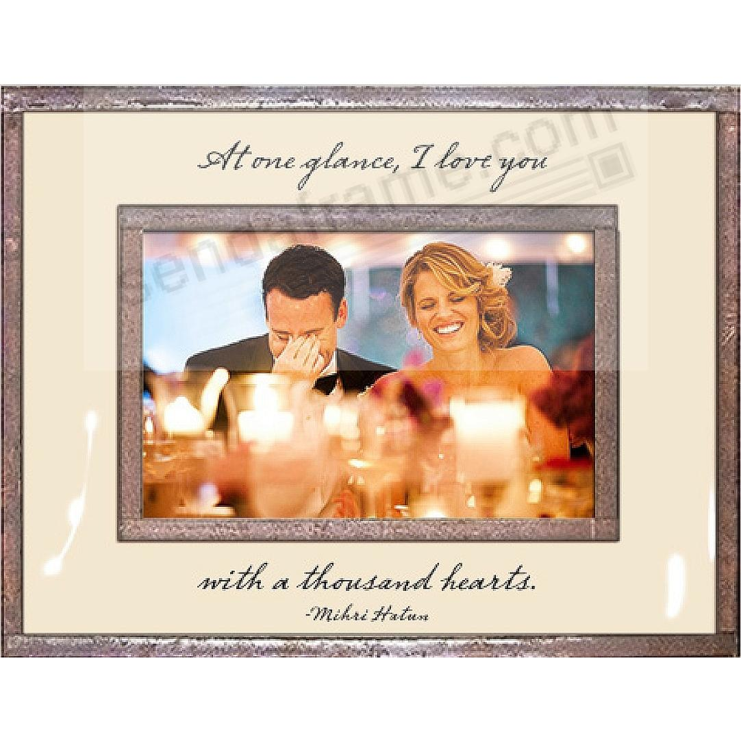 AT ONE GLANCE I LOVE YOU... Copper + Clear Glass by Ben's Garden®
