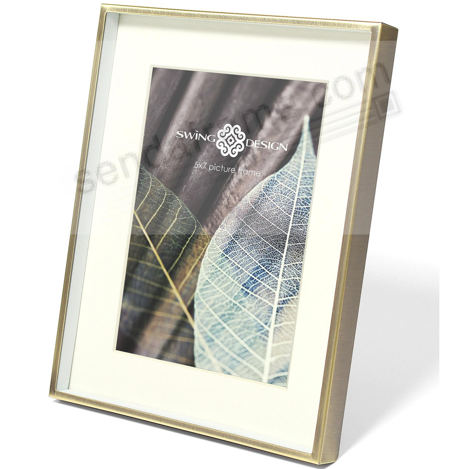 DIMENSION 5x7 Brushed Brass frame by Swing Design® - Picture Frames ...