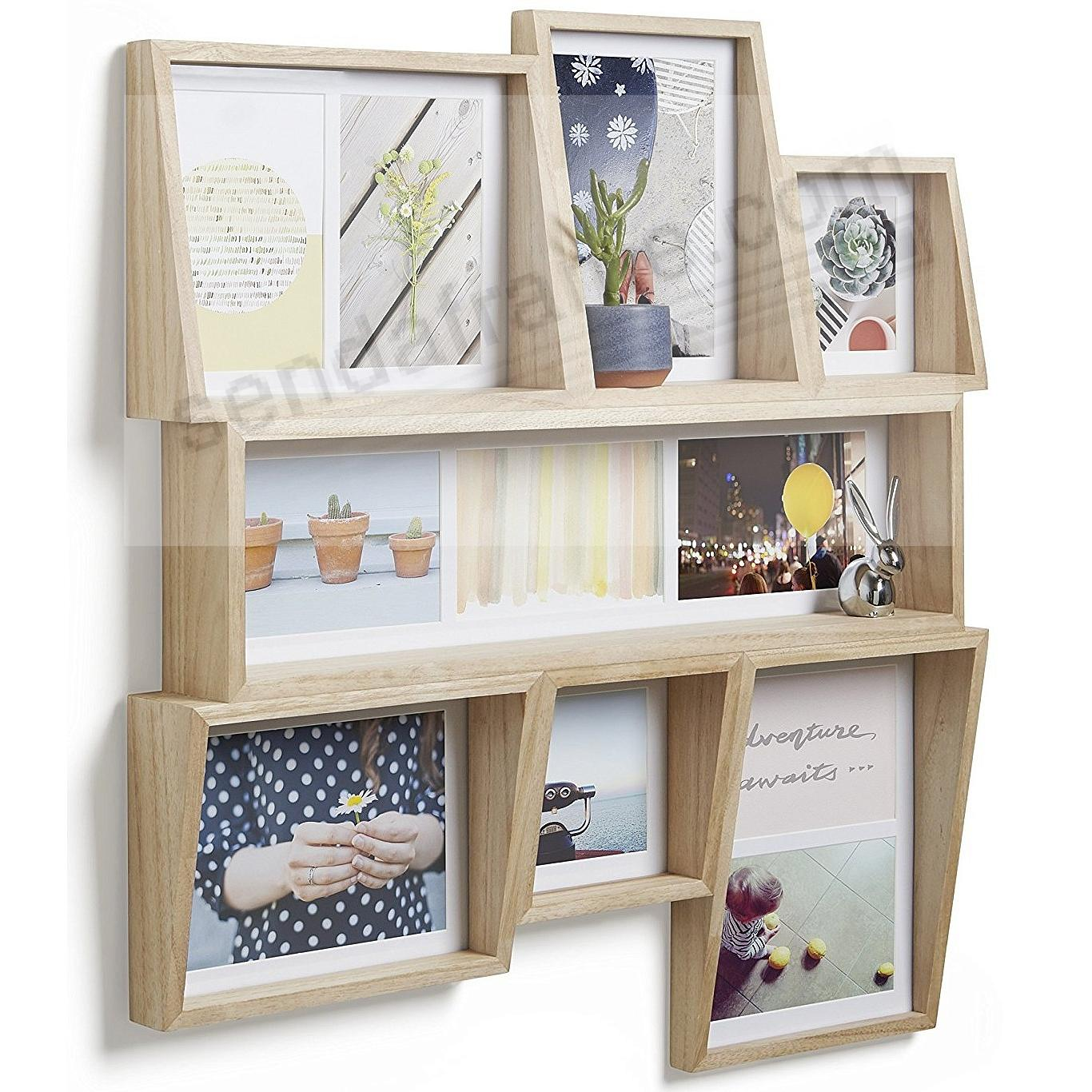 The Original EDGE MULTI 11-Opening Wall Frame in NATURAL Finish by ...