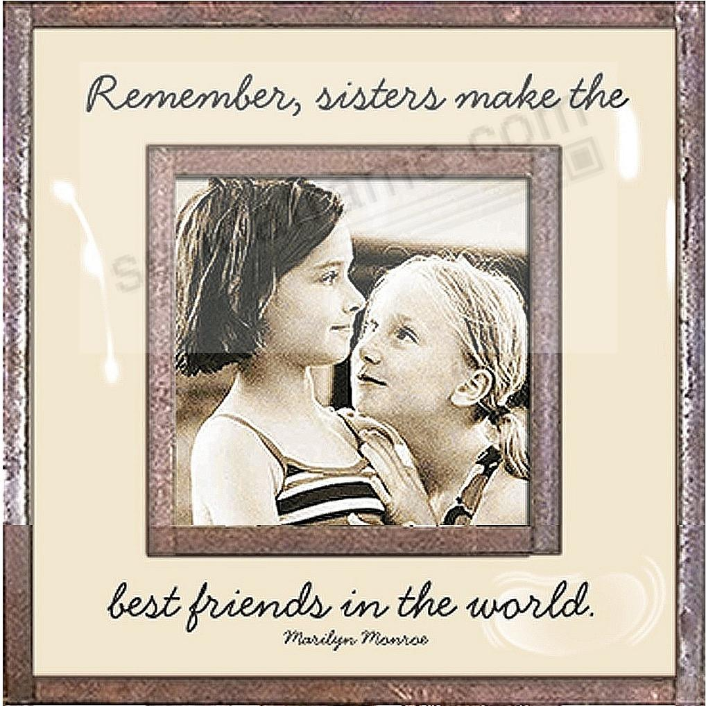 SISTERS MAKE THE BEST FRIENDS Copper + Clear Glass by Ben's Garden®