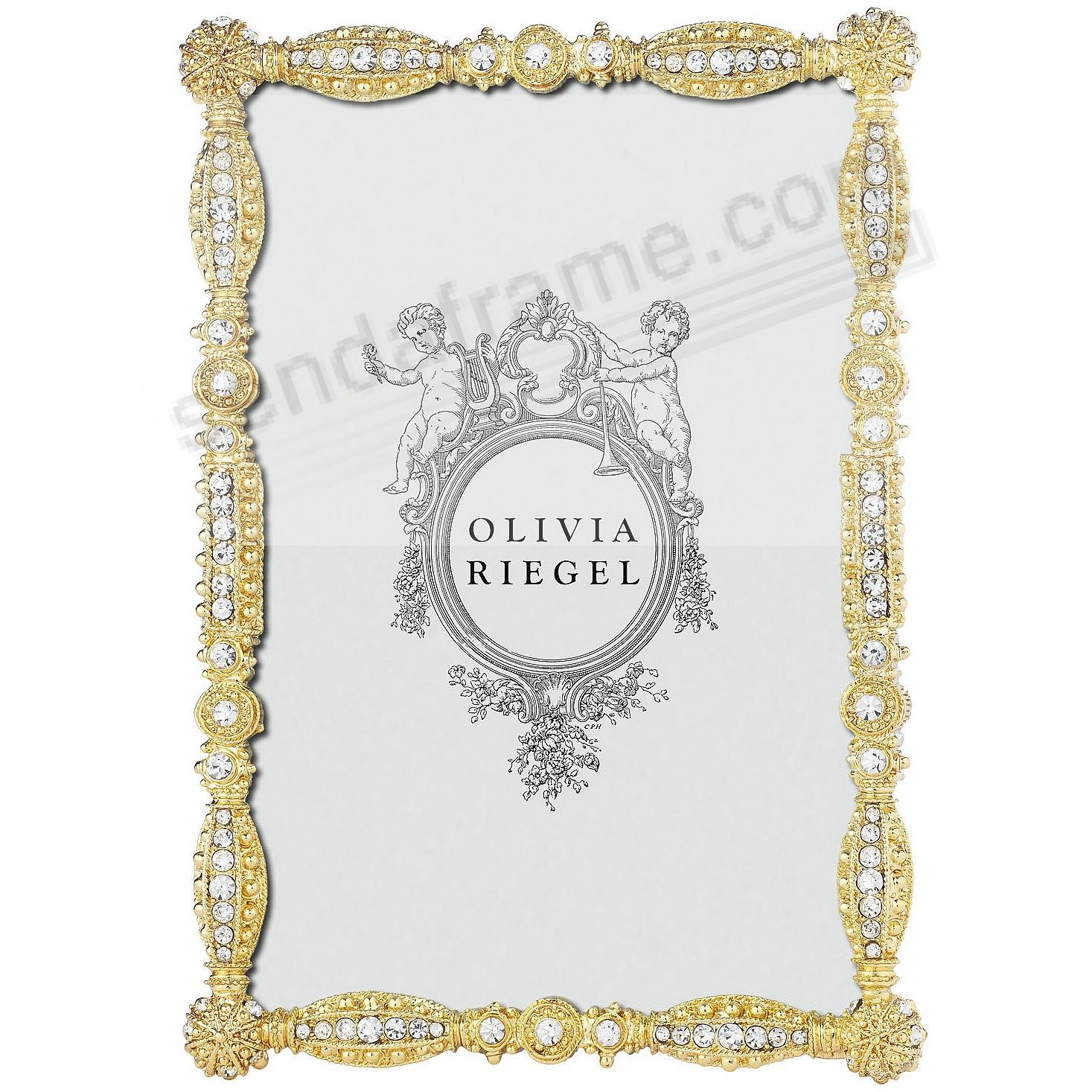 GOLD ASBURY Austrian Crystal 4x6 frame by Olivia Riegel® - Picture ...