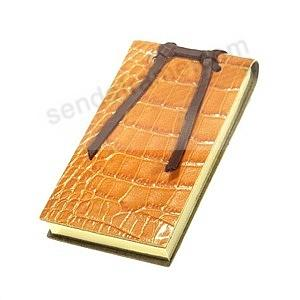 Crocodile Leather Small Tie Flip Pad by Graphic Image™