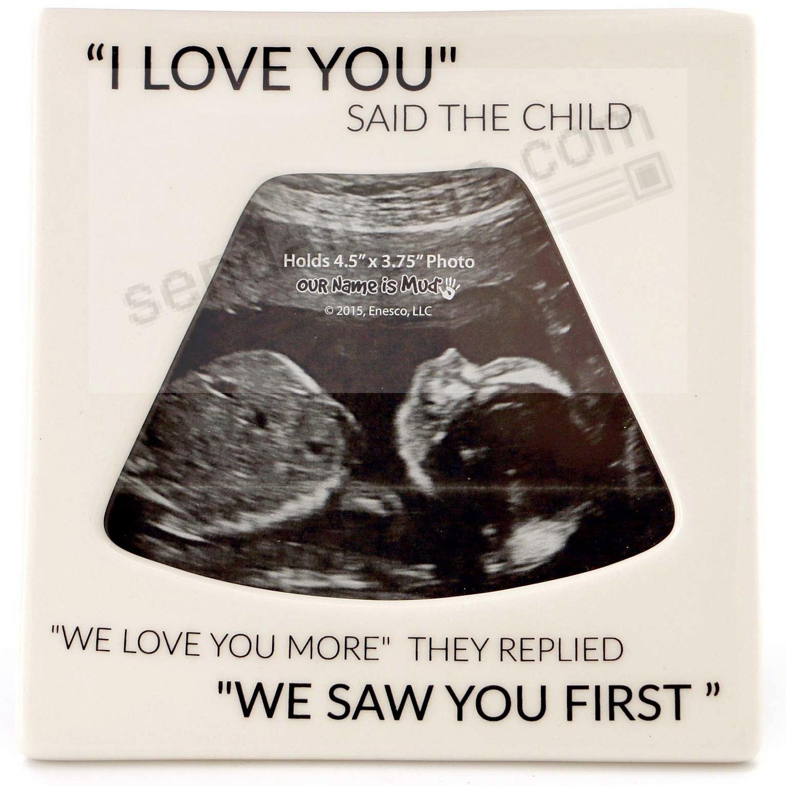we saw you first sonogram frame by our name is mudreg