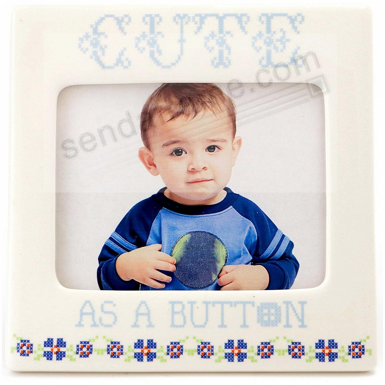 Picture frames photo albums personalized and engraved digital blue cute as a button frame by our name is mudreg jeuxipadfo Images