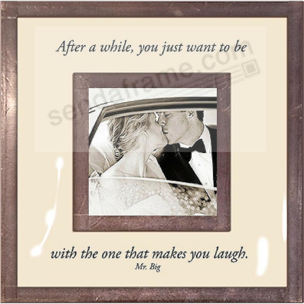 ...BE WITH THE ONE THAT MAKES YOU LAUGH Copper + Clear Glass by Ben's Garden®
