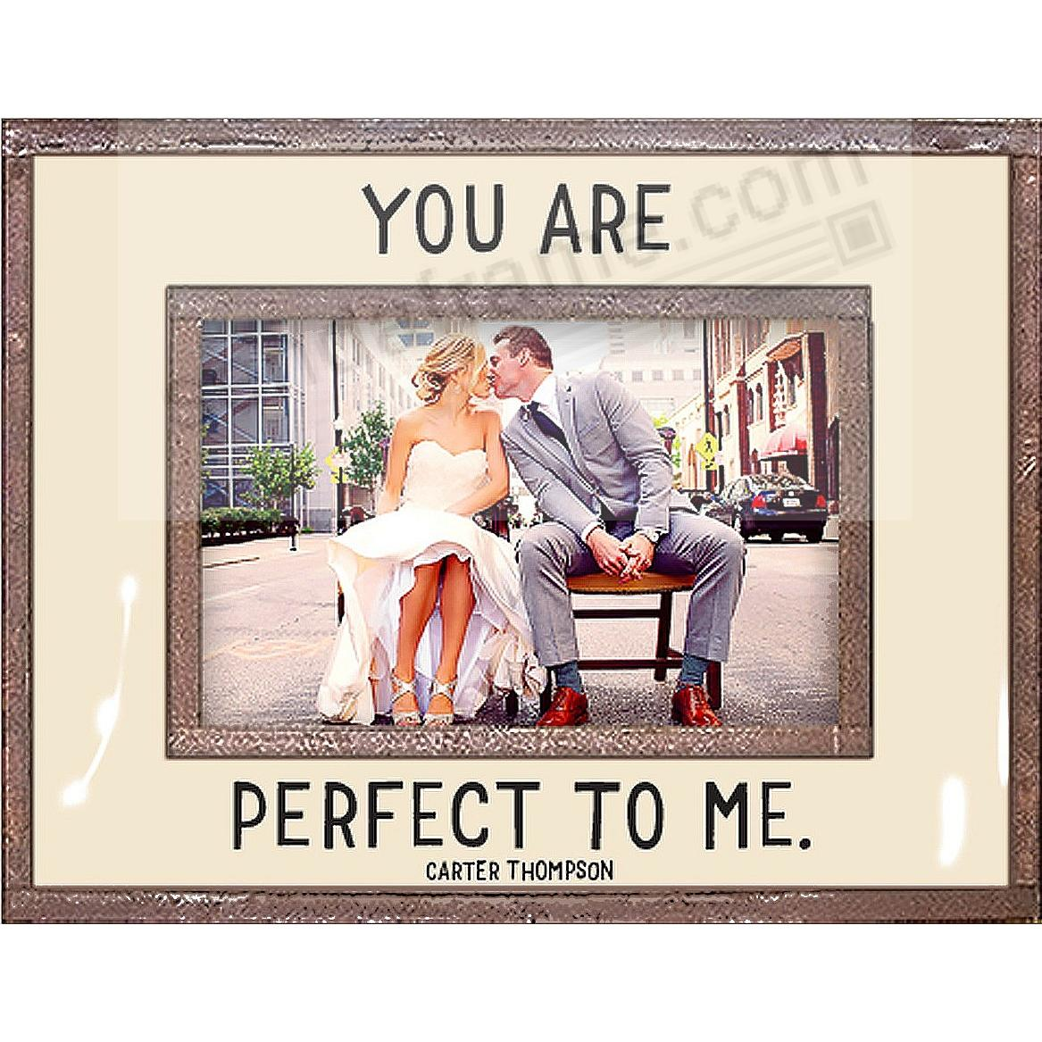 YOU ARE PERFECT TO ME Copper + Clear Glass by Ben's Garden®