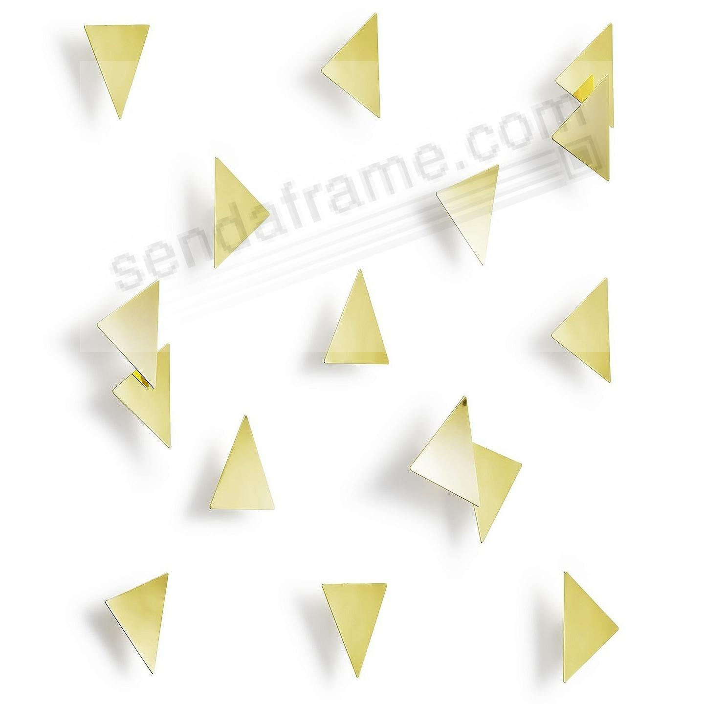 The Original CONFETTI TRIANGLES Stick-On Wall Decor by Umbra® Set of 16