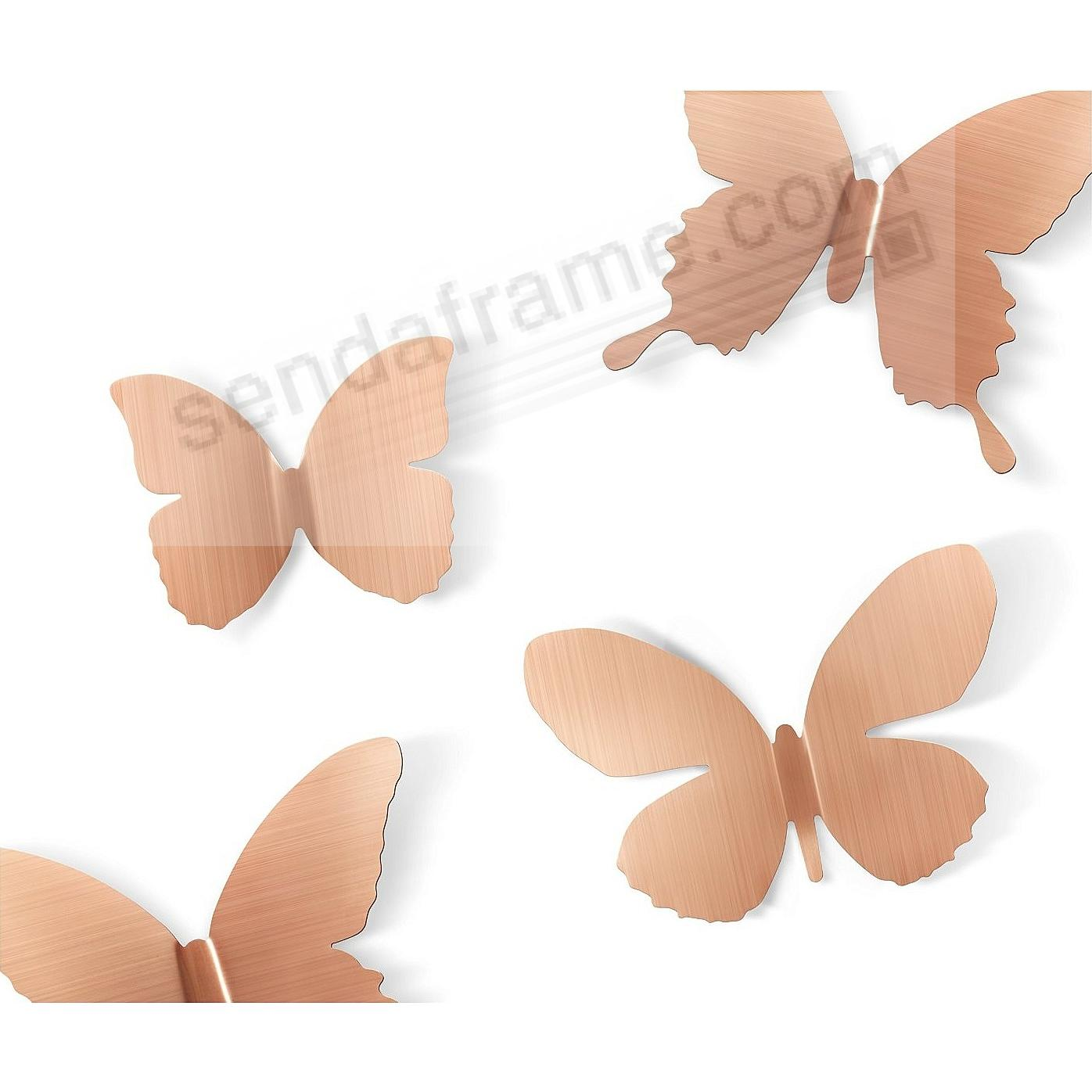 The Original MARIPOSA BUTTERFLY Stick-On COPPER Wall Decor by Umbra® Set of 9