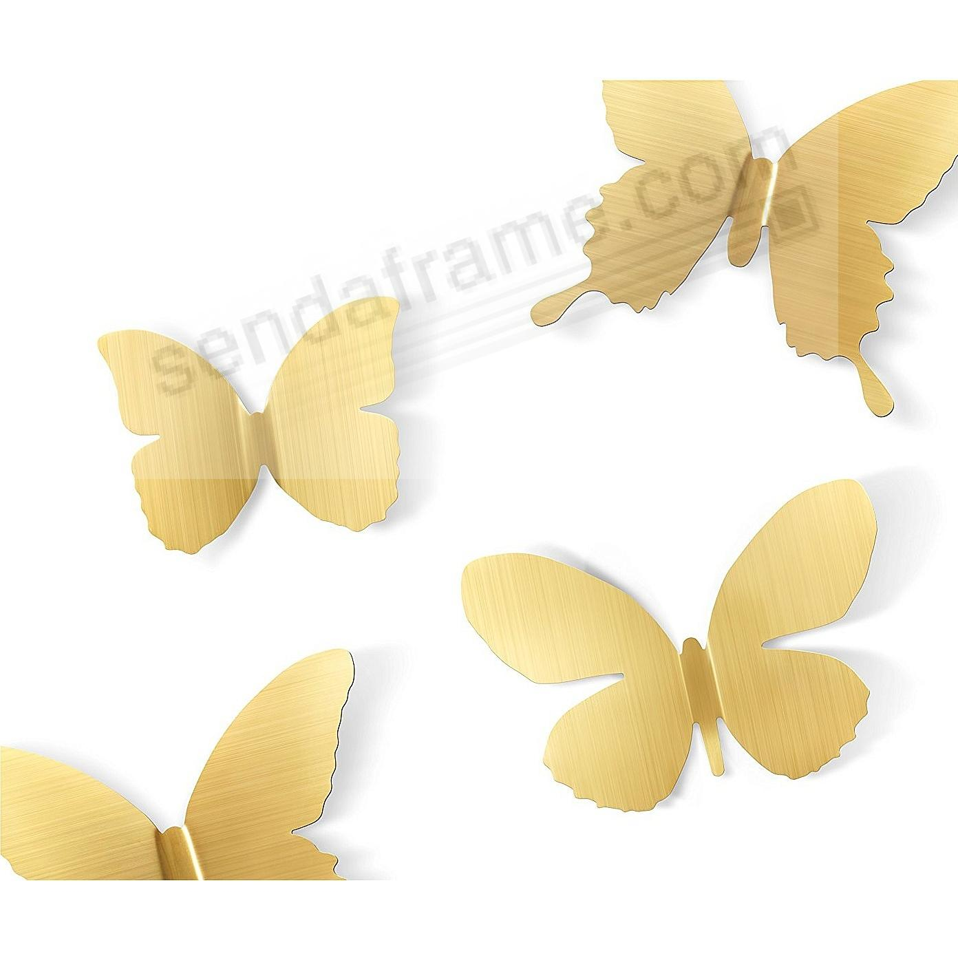 The Original MARIPOSA BUTTERFLY Stick-On BRASS Wall Decor by Umbra ...