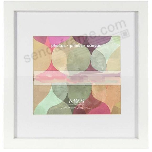 Art Shadow-Box 1-3/8in depth White Wood 12x12 frame by MCS®