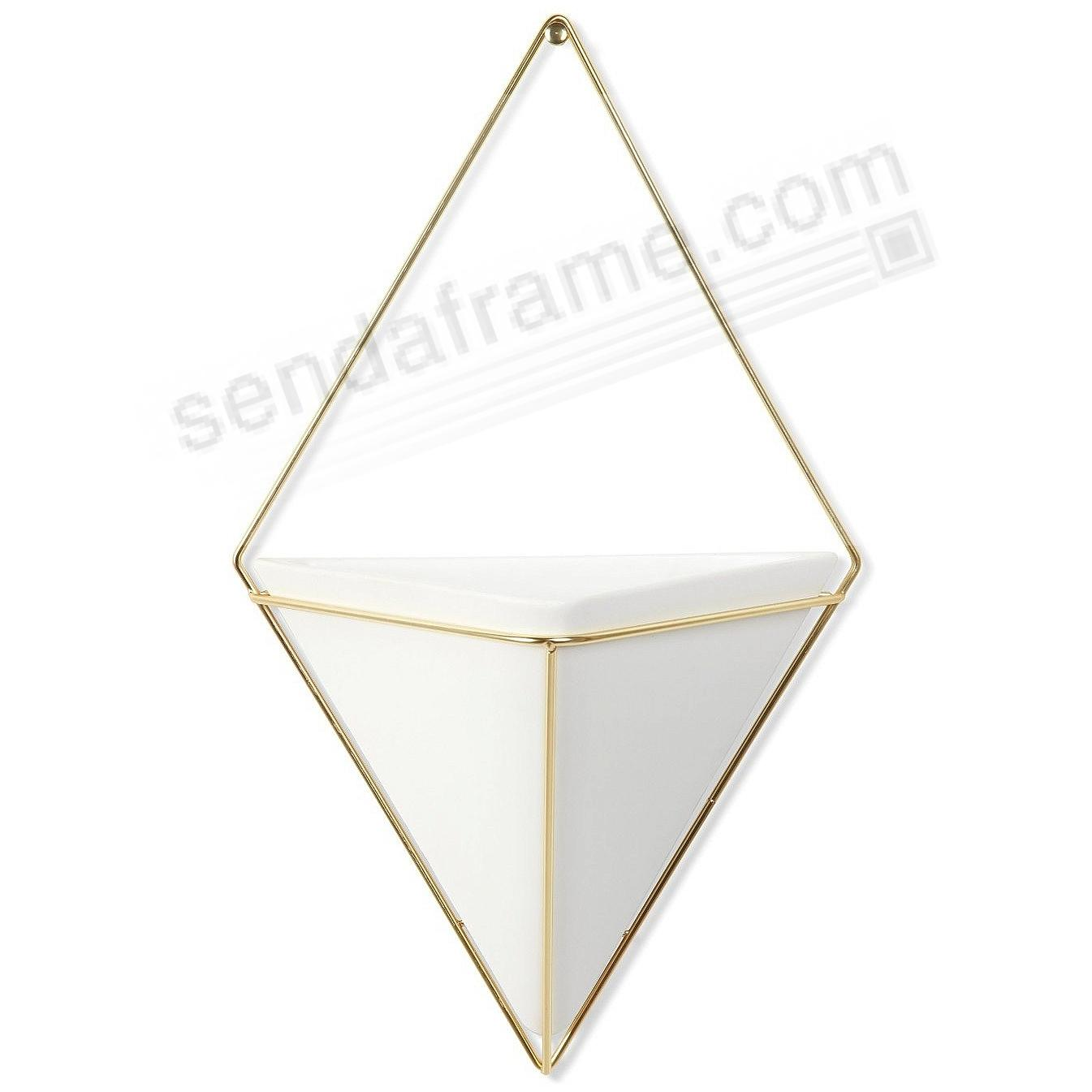 The Original TRIGG WALL VESSEL White/Brass (Large) by Umbra®