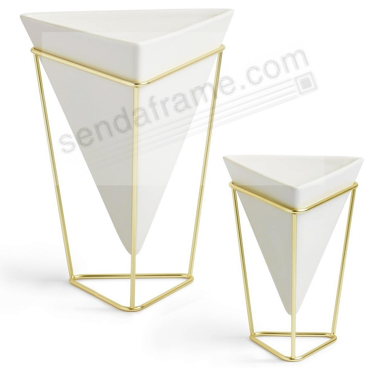 The Original TRIGG DESK VESSELS White/Brass by Umbra® Set of 2