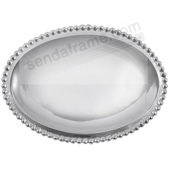 The original SMALL OVAL STATEMENT TRAY crafted by Mariposa® - Engraveable!