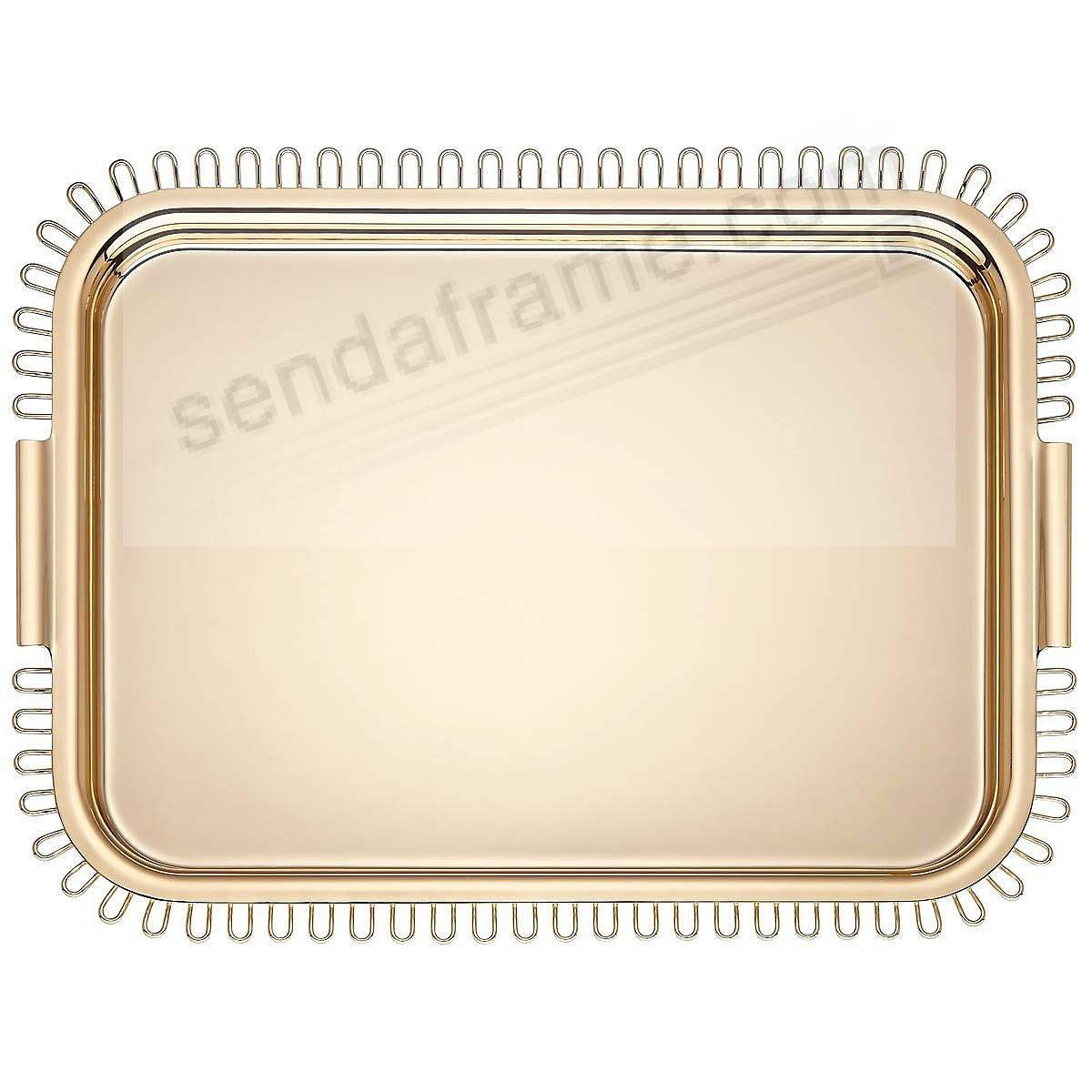 The KEATON STREET GOLD SERVING TRAY (LG) by kate spade new york®