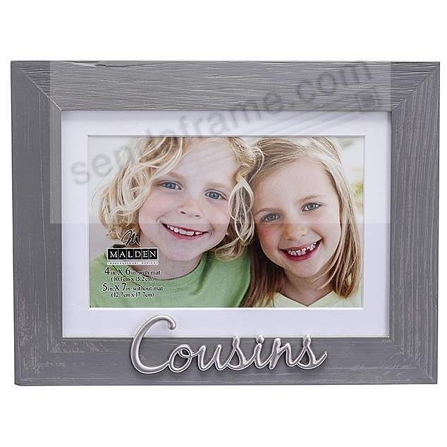 COUSINS Matted 5x7/4x6 Frame w/Silver Applique