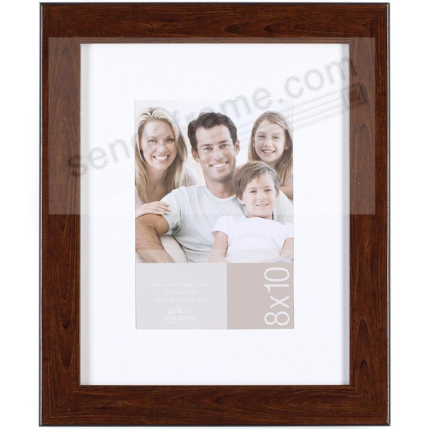 Brown-Ashwood 8x10/5x7 matted frame by Gallery Solutions™