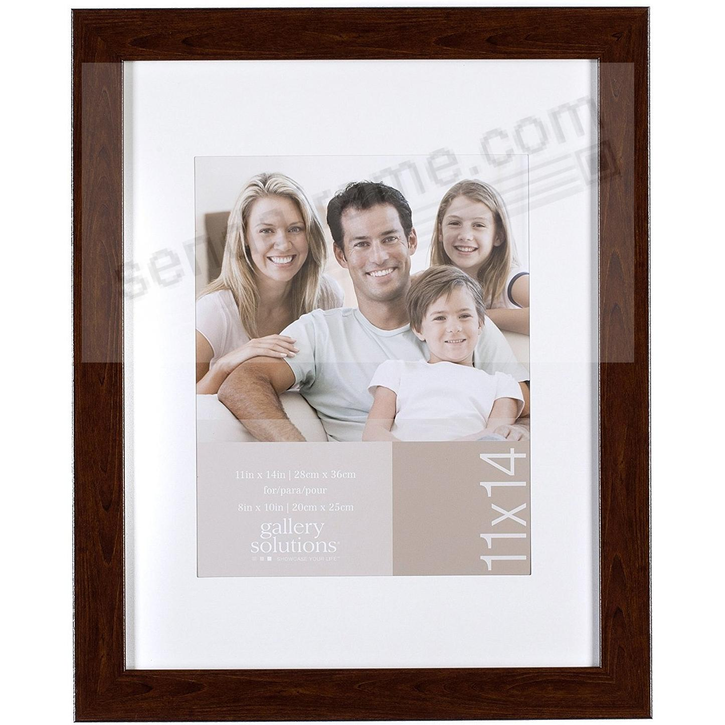Brown-Ashwood 11x14/8x10 matted frame by Gallery Solutions ...