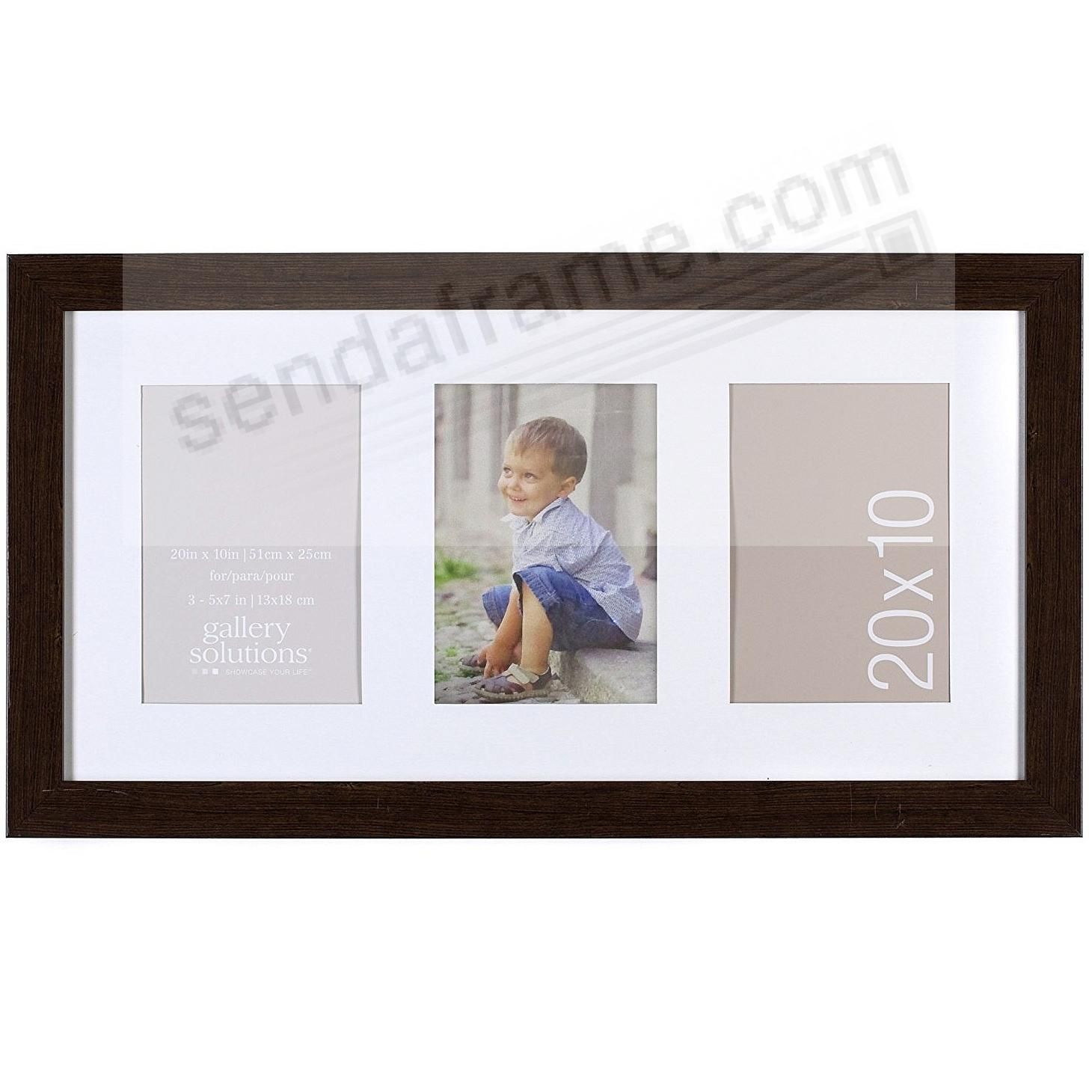 Brown-Ashwood 3-Opening 5x7 Collage Matted frame by Gallery Solutions™