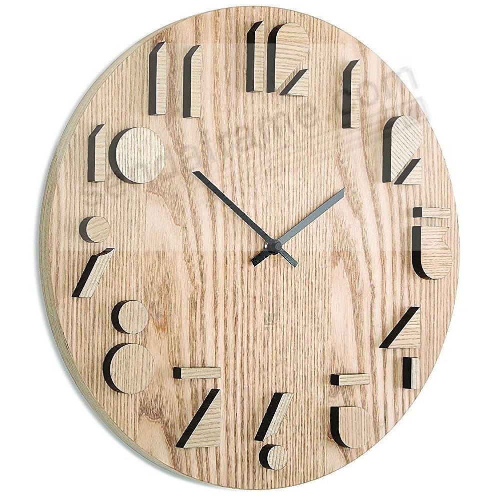 The original SHADOW WALL CLOCK in NATURAL Wood by Umbra®