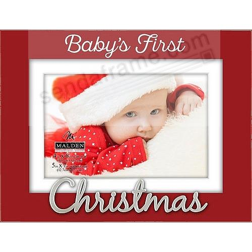 BABY\'S FIRST CHRISTMAS 2017 frame by Malden Design - Picture Frames ...