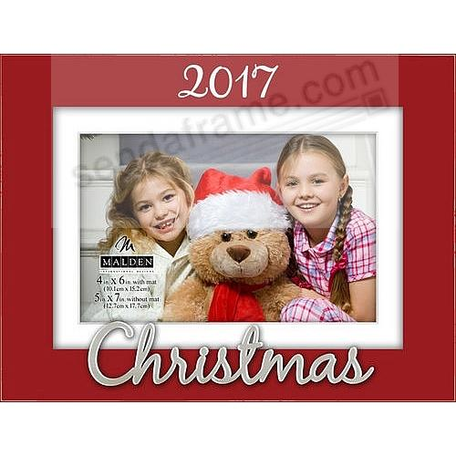 christmas 2017 red expressions frame 5x74x6 by malden design