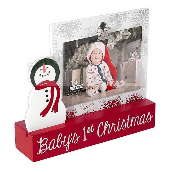 BABY\'S FIRST CHRISTMAS Platform Frame by Malden Design® - Picture ...