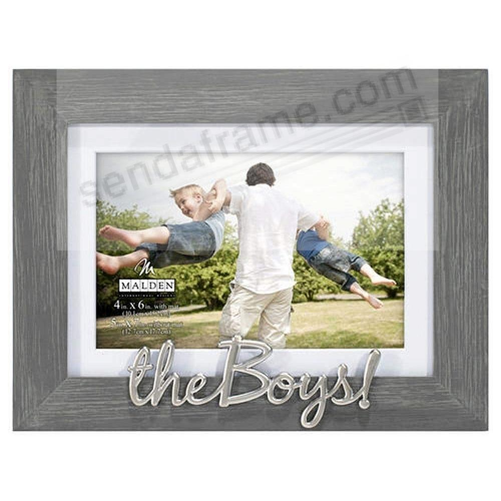 THE BOYS! 5x7/4x6 Matted Frame Captures a special moment together