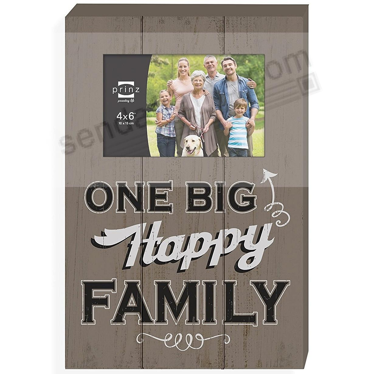ONE BIG HAPPY FAMILY Wood Block Frame by Prinz®