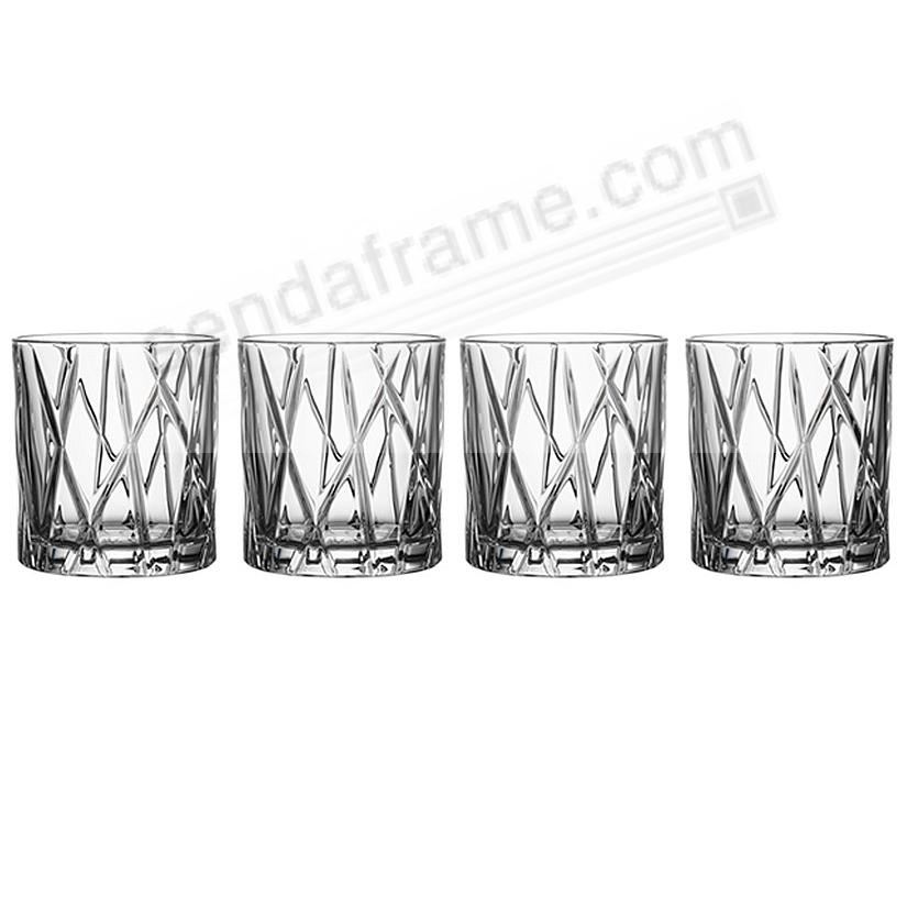 The Original CITY OLD FASHIONED 8oz by ORREFORS® Sweden (set of 4)