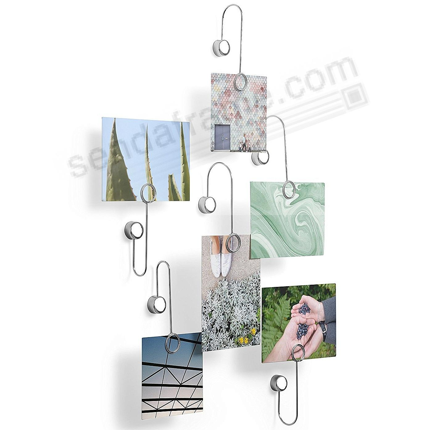 The Original PHANTOM Multi-Photo Display Chrome by Umbra® - set of 6
