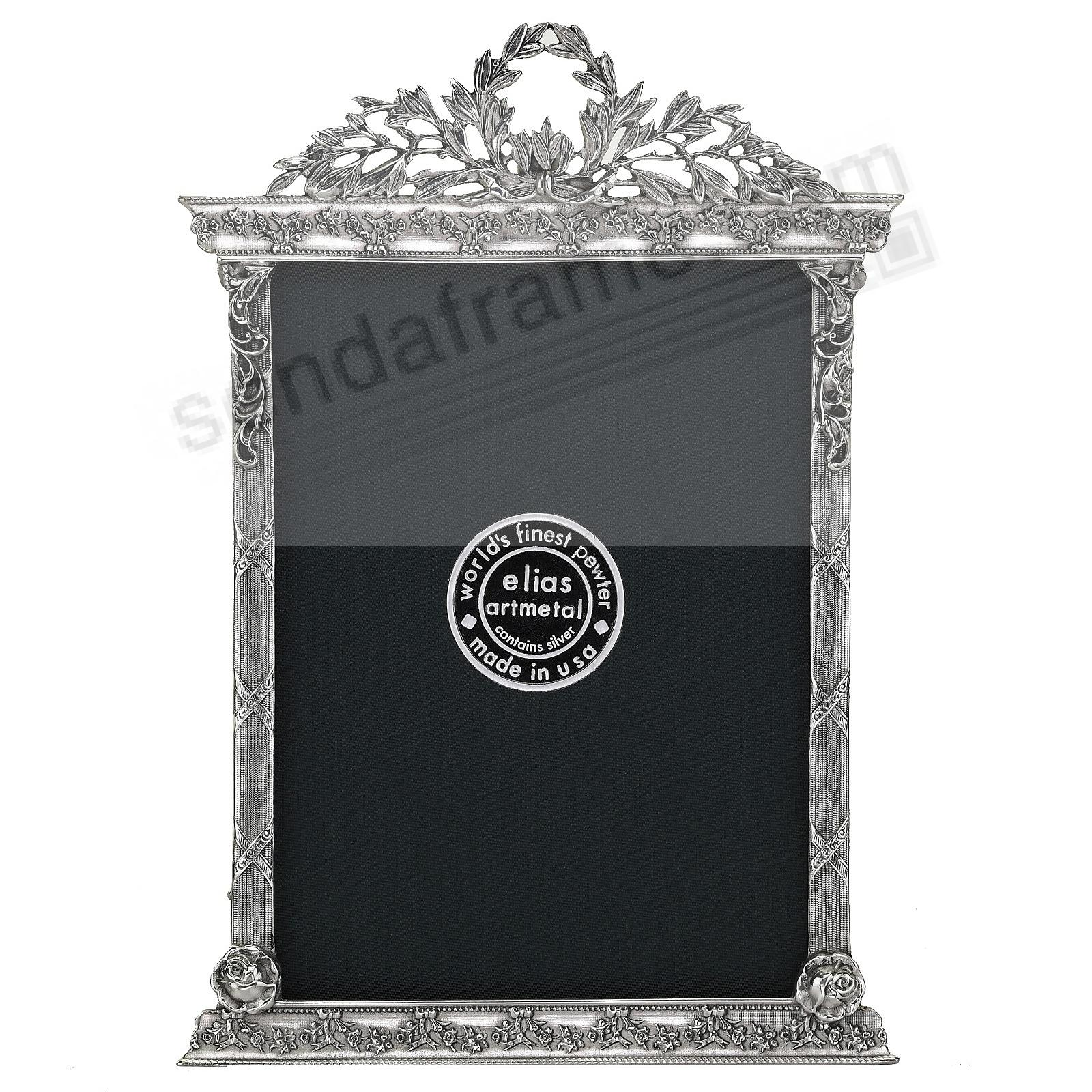 FRENCH TABERNACLE Silvered Fine Pewter 4x6 frame by Elias Artmetal®