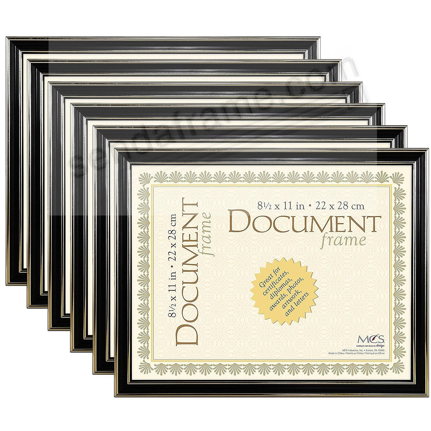 ECONOMY Document Black w/gold accent ABS acrylic frame by MCS® - Set ...
