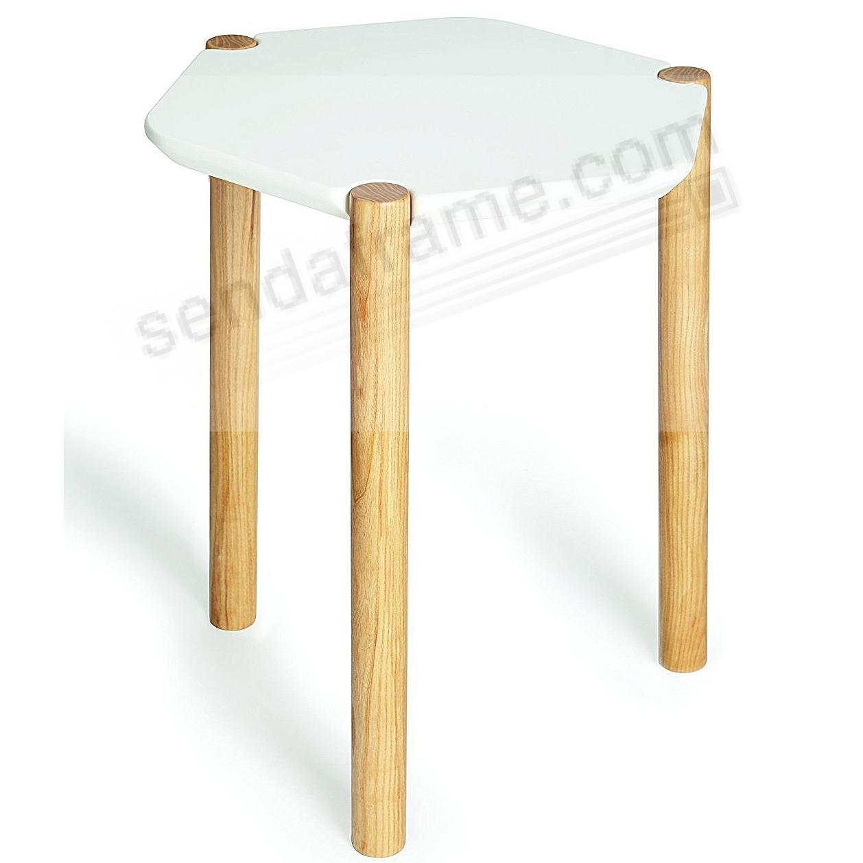 The Original HUB LEXY SIDE TABLE White/Natural by Umbra®