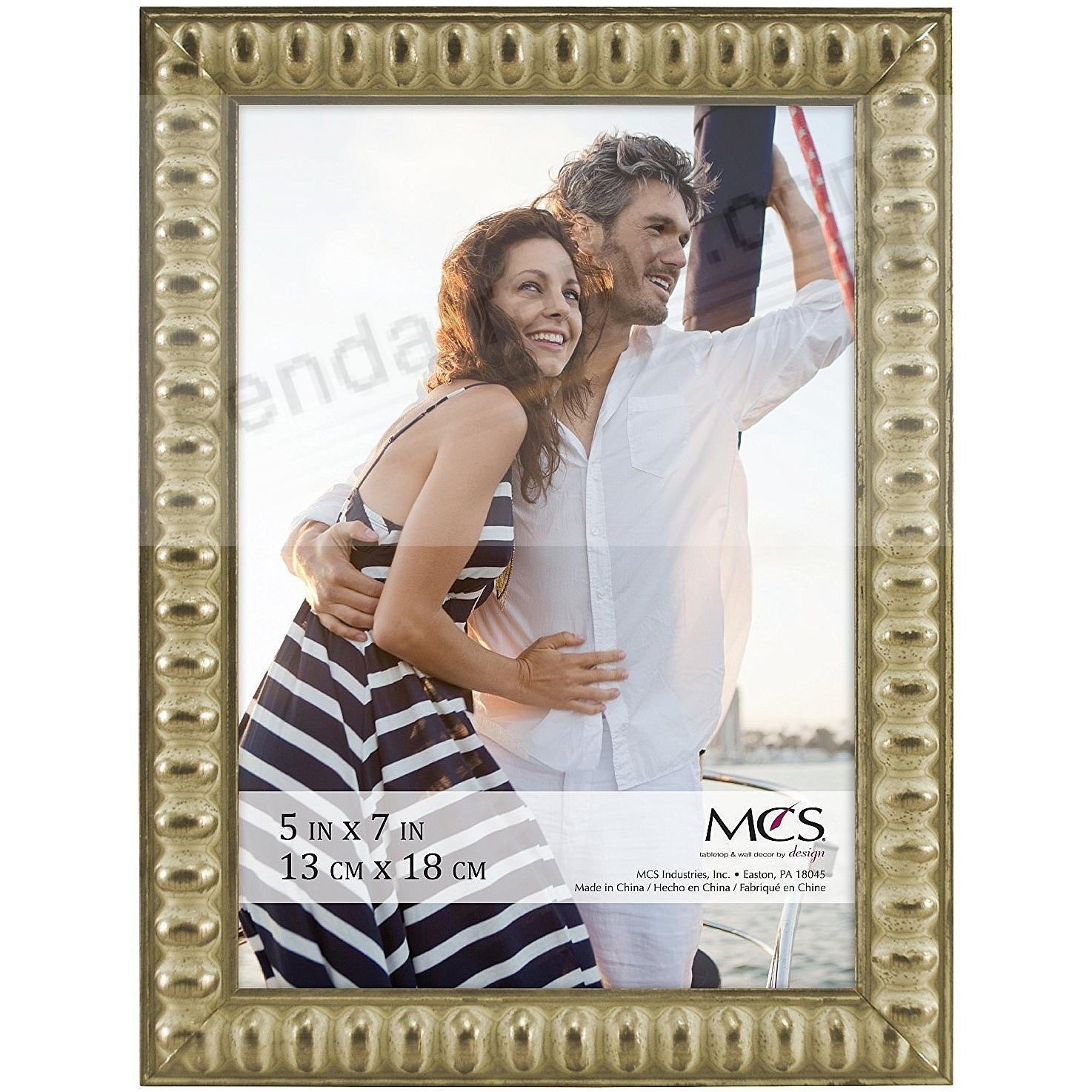 THIN BEAD Wood Champagne frame 5x7 by MCS®