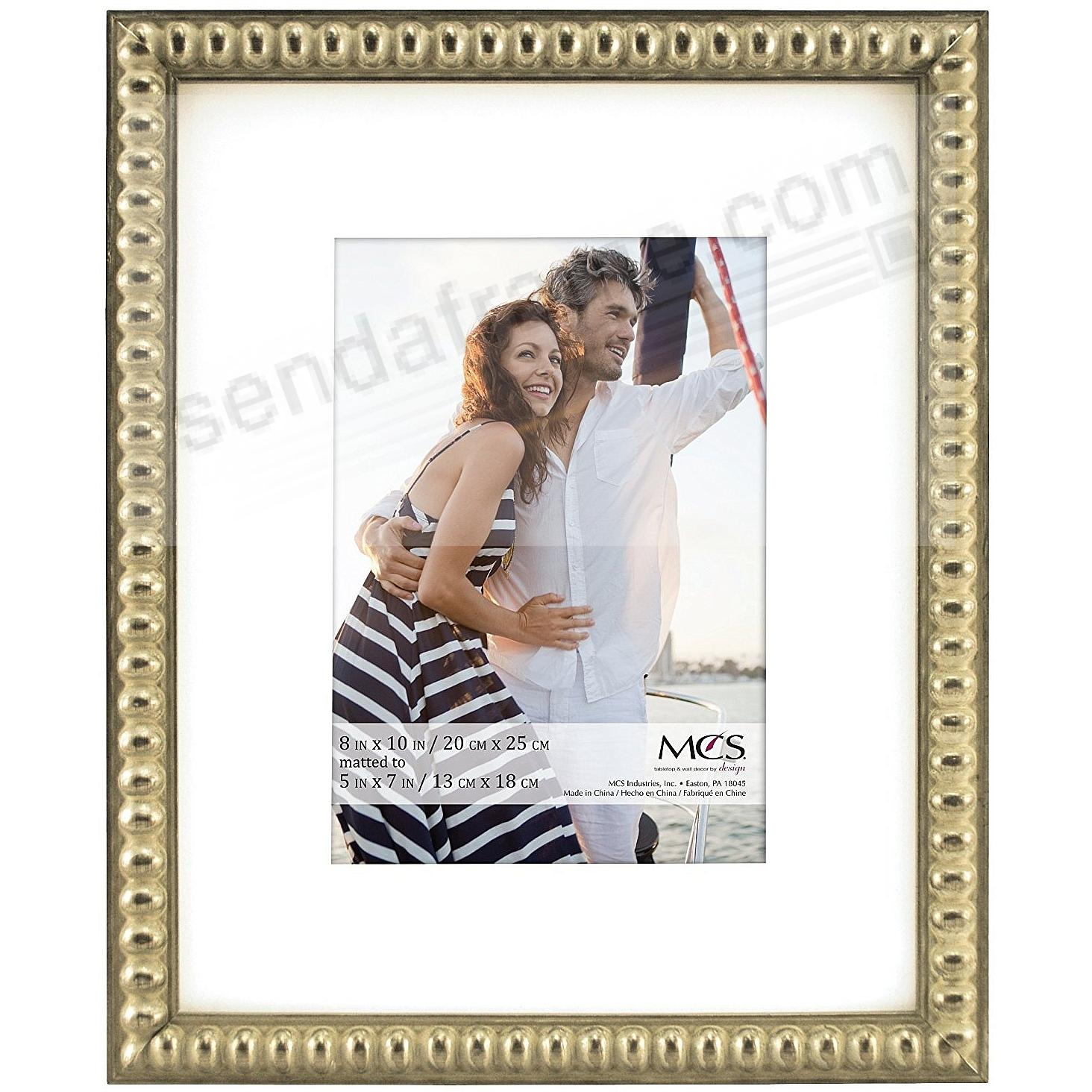 THIN BEAD Wood Champagne frame 8x10/5x7 by MCS®