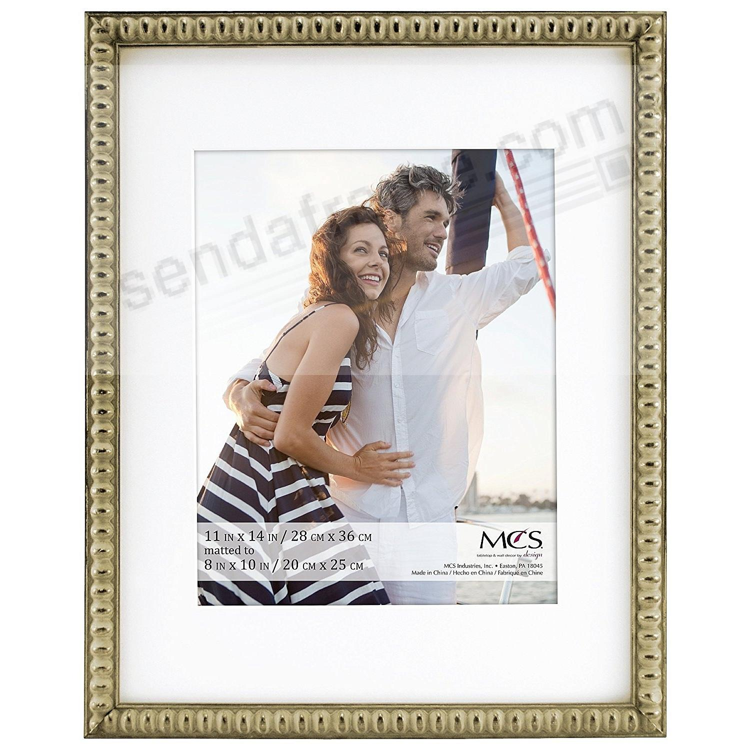 THIN BEAD Wood Champagne frame 11x14/8x10 by MCS®