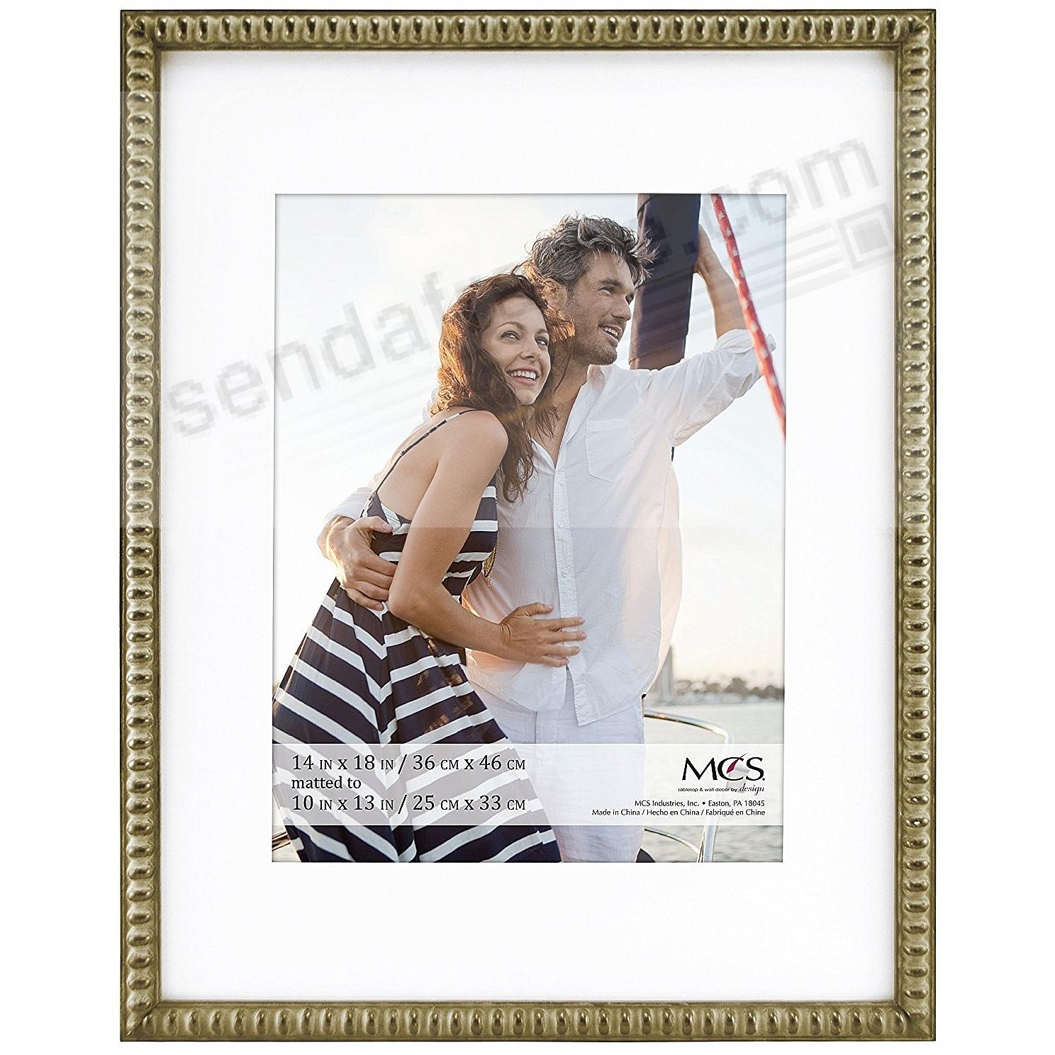 THIN BEAD Wood Champagne frame 14x18/10x13 by MCS®