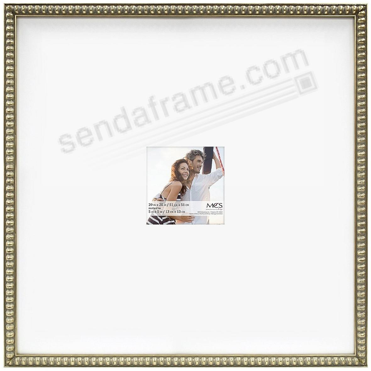THIN BEAD Wood Champagne frame 20x20/5x5 by MCS®