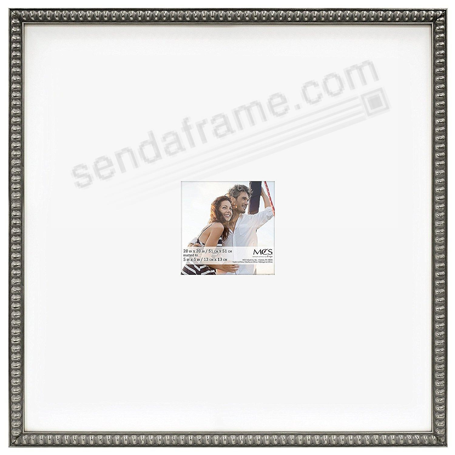 THIN BEAD Wood Pewter frame 20x20/5x5 by MCS® - Picture Frames ...