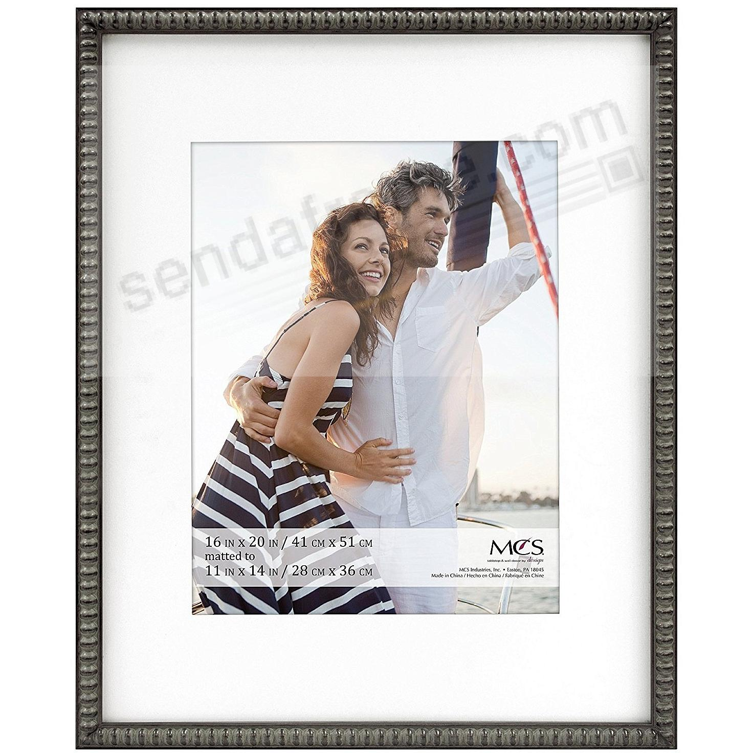 THIN BEAD Wood Pewter frame 16x20/11x14 by MCS®
