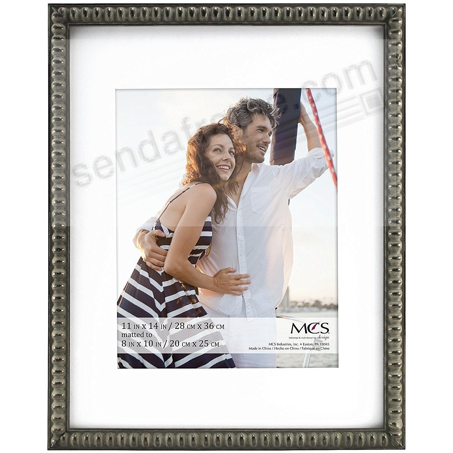 THIN BEAD Wood Pewter frame 11x14/8x10 by MCS®