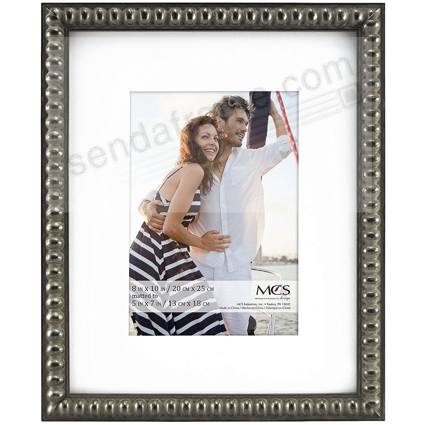 THIN BEAD Wood Pewter frame 8x10/5x7 by MCS®