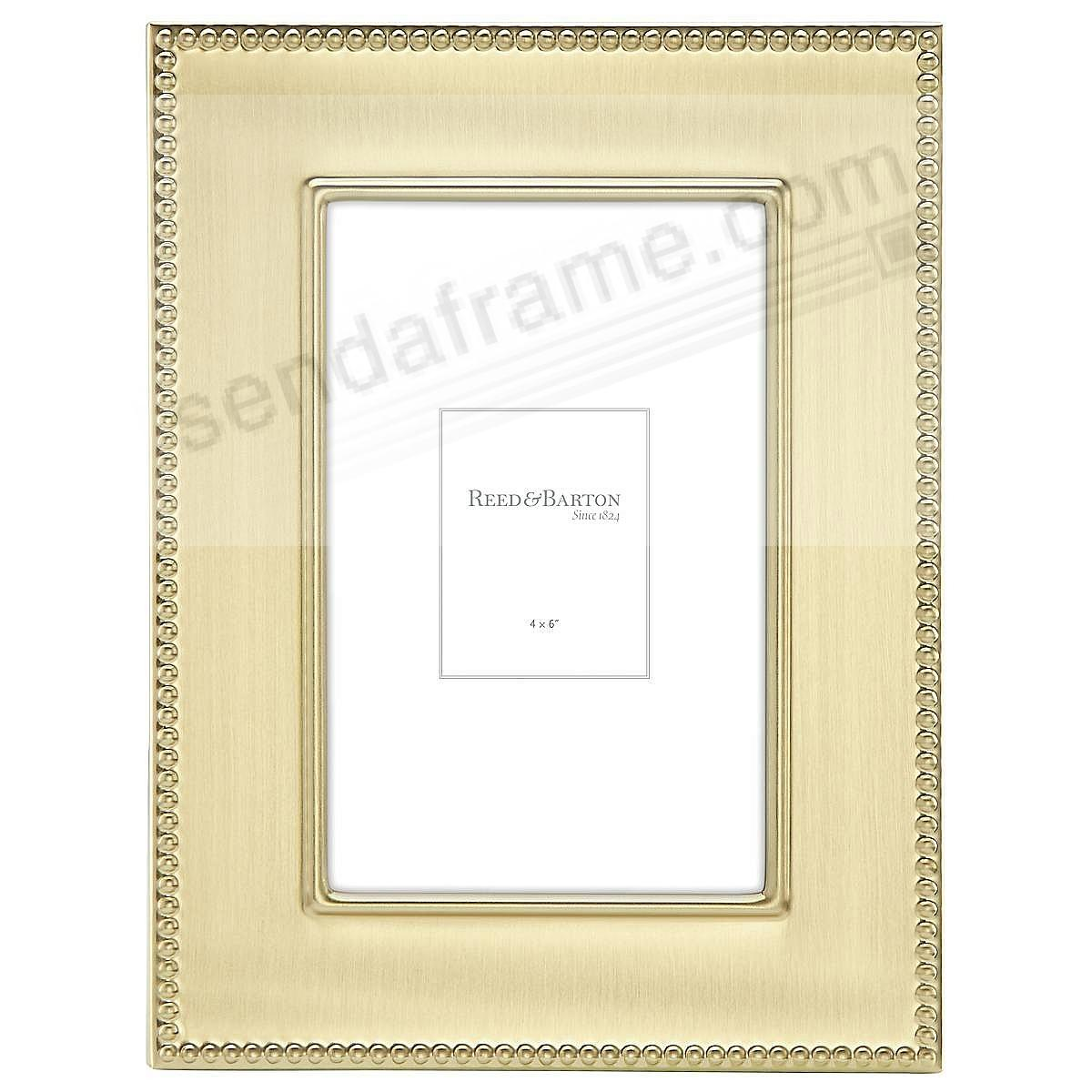 Engraveable LYNDON GOLD 4x6 frame by Reed & Barton® - Picture Frames ...