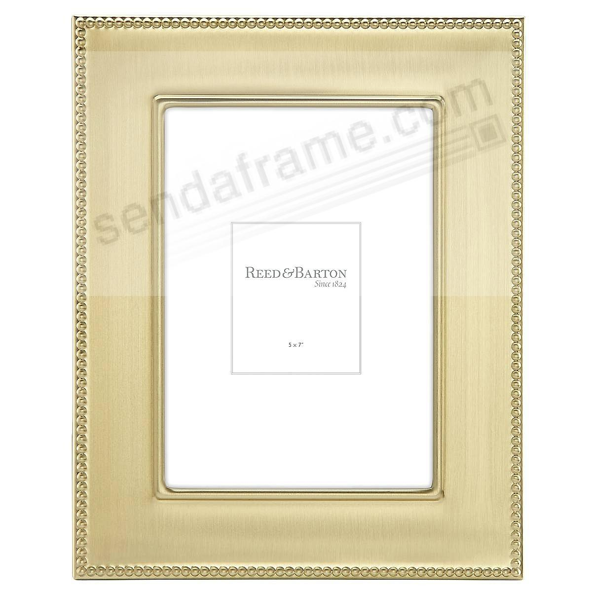 Engraveable LYNDON GOLD 5x7 frame by Reed & Barton®